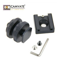 """CAMVATE 1/4"""" Hot Cold Shoe Mount+Tripod Screw kit For Camera DSLR Cage Plate Rig"""