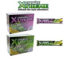 CHEWITS XTREME CHEWY SWEETS Box of 24 packets - Sour Apple & Tutti Frutti