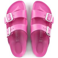 Birkenstock Womens Arizona Essentials Eva Neon Pink Double Straps Sandals 129533