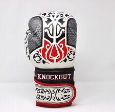 Boxing Gloves Punching Bag Sparring Training Kickboxing Gym MMA Mitts 12oz White