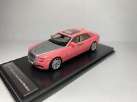 1/64 Scale Rolls-Royce Ghost Extended Wheelbase Pink/Silver Diecast Car Model
