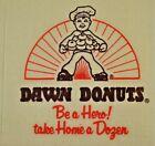 Dawn Donuts Napkin Be a Hero Take Home A Dozen Vintage Flint Michigan