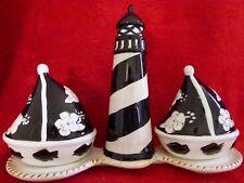 Lighthouse & Sailboat Salt And Pepper Set - New