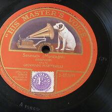 """78rpm 12"""" GIOVANNI MARTINELLI mascagni - serenata , single side"""