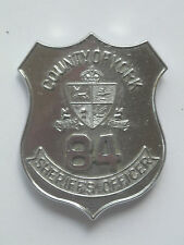 circa 1975 York County, Ont., Canada Sheriff's Officer - total custom die badge