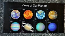 2016USA #5069-5076 Forever - View of Our Planets - Header Block of 8  Mint NH