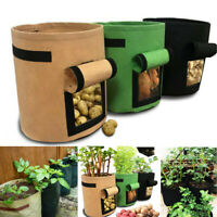 5 7 10 Gallon Plant Potato Grow Bags Root Pot Planting Fabric Sack Spuds Fruits