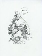 Mike Mignola Original The Rhino Pencil Sketch