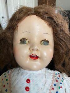 Vintage plastic doll, 27 in, unbranded