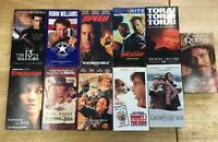 Robin Williams ~LOT OF 11 VHS MOVIES Various Titles Comedy Action Drama ~ Lot #1