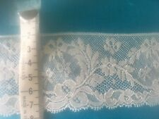 Antique Vintage COTTON LACE, England. New over 70 years old ,1m x 55 mm wide,