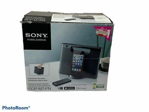 New! Sony RDP-M7IPN Lightning iPhone/iPod Portable Speaker Dock - Black