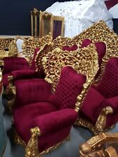 BAROQUE STYLE PALACE SOFA SET 2 ARMCHAIRS + 3 SEATS SOFA  # MB2.0