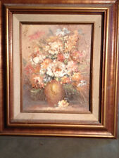 """Nice Impressionist Russo """"Vase Of Flowers"""" Oil Painting- Signed And Framed"""