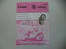 advertising Pubblicità 1976 EQUILIBRATRICE PER RUOTE CEMB L41 - SIPAV