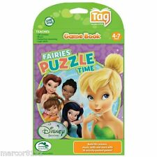 leap frog tag reading system activity game book disney fairies tinker bell new