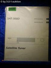 Sony Bedienungsanleitung SAT 300 D Satellite Tuner (#2006)