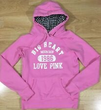 PINK Hoodie By Victoria's Secret Women's Size Small Pink White