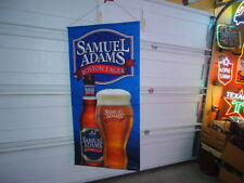 Sam Adams Lager Cloth Banner Beer Bar Sign Unused 30 X 62 Great Color Fabulous
