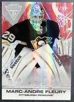 2011-12 Panini Titanium Spectrum Ruby #9 Marc Andre Fleury 13/99 Pittsburgh
