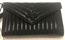 "VICTORIA'S SECRET ""PINK"" BLACK LOVE WALLET AND COIN PURSE WITH SIGNATURE SNAP"