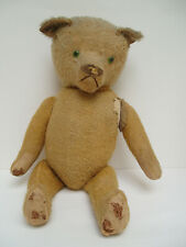 """Antique Two-Faced 22"""" Mohair Teddy Bear/Doll~Missing Doll Face~Much Loved~1912"""