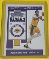 2019-20 Panini Contenders Anthony Davis SEASON TICKET Los Angeles Lakers #7 🔥