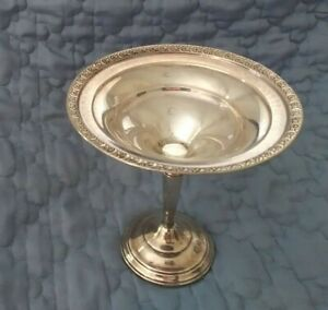 VINTAGE STERLING SILVER WEIGHTED COMPOTE BOWL CANDY DISH