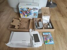 Nintendo Wii U White Console 8GB Smash Bros Basic Back Pack Complete VGC
