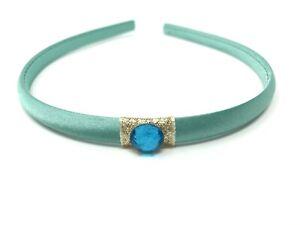 Princess Jasmine Style Turquoise Headband Hairband Turquoise Rhinestone