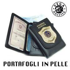 Portafoglio Vega Holster in Pelle Guardia Giurata 118 Placca Metallo documenti