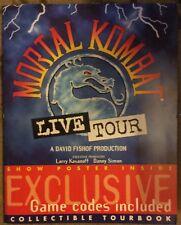 Vinyage Mortal Kombat Live Tour Collectible Tourbook w/Game Codes & Show Poster