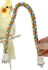 R18 Parrot Rope Perch bird toy toys cage budgie conure cockatiel amazons