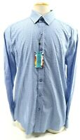 Robert Graham NWT $168 Men's Dress Shirt Sansom Flip Cuff Size 2XL Blue