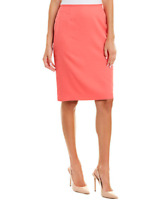 Tahari ASL Skirt Pencil Coral Pink Knee Length Sz 4P Petite NEW NWT 339