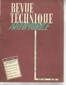 REVUE TECHNIQUE AUTOMOBILE 146 RTA 1958 SIMCA ARONDE 1300 1956 1958 ET MONTHLERY