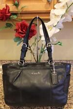 Coach #17721 Gallery East West  Leather Black Totes & Shoppers Purse (PU700