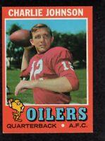 1971 Topps #85 Charlie Johnson Houston Oilers QB Football Card EX/MT  F2