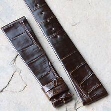 Genuine Alligator 19mm vintage Bulova Ambassador watch strap brown 1960s/70s NOS