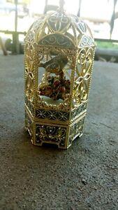 Vintage Sankyo Bird Cage Music Box