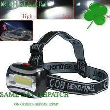 Headlamp Head Lamp Head Light Work Torch 3 Modes COB LED  (Batteries included)