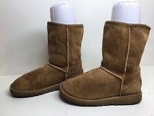 *1 WOMENS ALDO WINTER SUEDE LIGHT BROWN BOOTS SIZE 38?