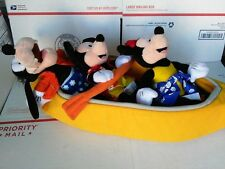 Disney Cruise Line Rare Canopy Plush Set with 3 Dolls Minnie Mickey Goofy