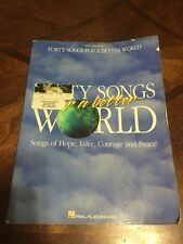 Forty Songs For A Better World Piano Vocal Guitar Song Book Sheet Music Bin U2