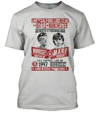 Smiths Inspired Morrissey VS Marr Fight Poster Men's T-shirt Medium White