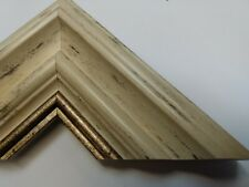 1.8m (2x93cm) 69mm Traditional Wide Cream & Gold Polcore Picture Frame Moulding