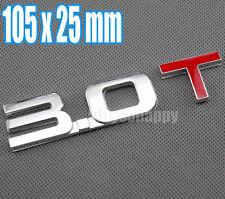 Displacement 3.0 T Turbo TSI Metal Rear Trunk Emblem Badge Decal Sticker Audi VW