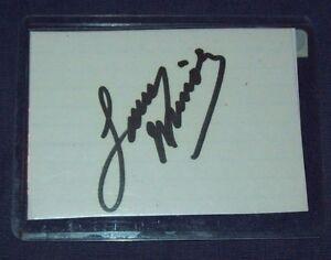 NHRA Owner Larry Minor Hand Signed Index Card