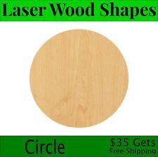 Circle Laser Cut Out Wood Shape Craft Supply - Woodcraft Cutout