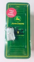 Vintage John Deere Metal Locker Coin Bank with Lock & Skittles